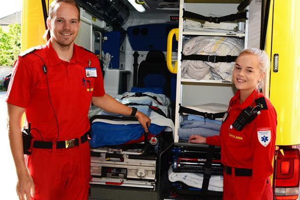 Bilde av ambulansearbeidere i Vestre Viken HF.
