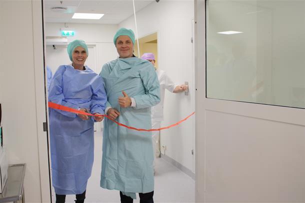 Ny operasjonsstue ved Kongsberg sykehus.